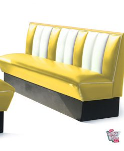Simple Retro American Diner bench seats 4 HW180
