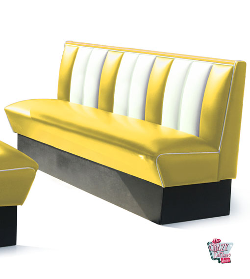 Simple banc American Retro Diner sièges 4 HW180