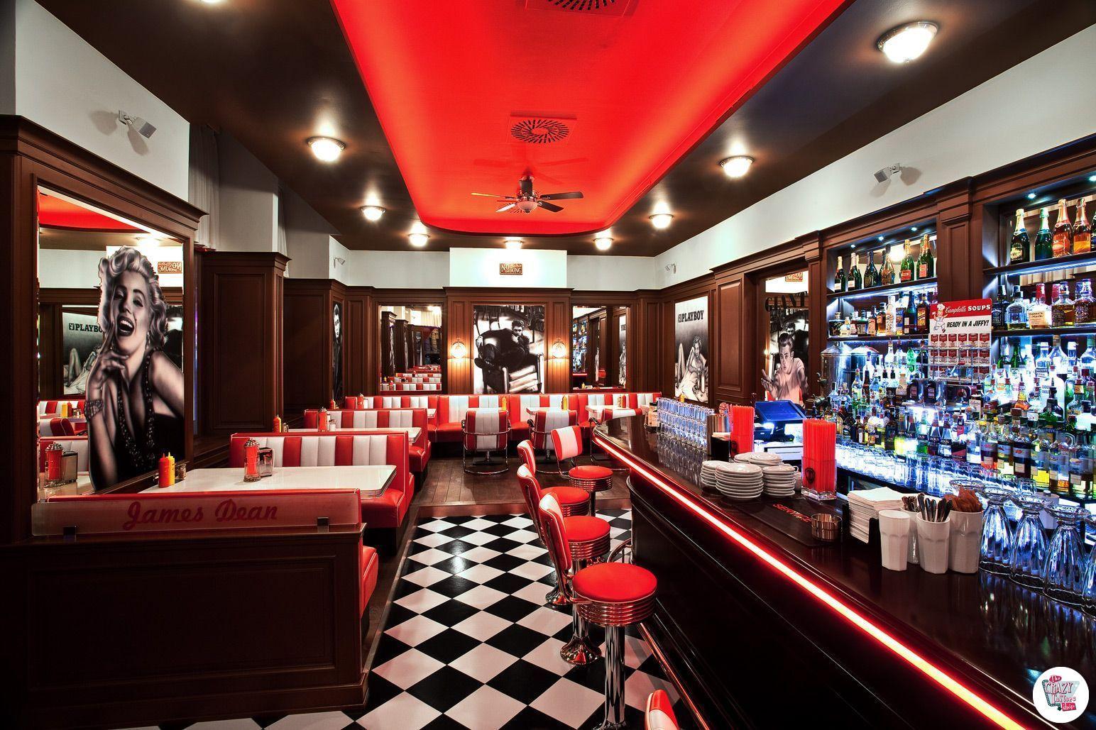 Doble Retro American Diner seter 3