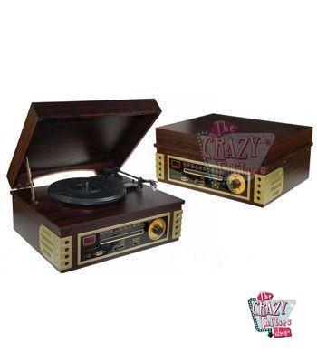 Registro retro Jogador de madeira Rádio-CD-USB