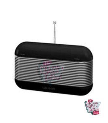 Rádio Preto retro do estilo do vintage