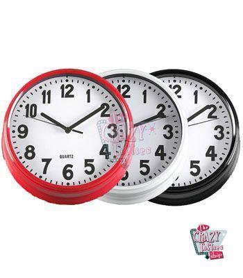 Reloj retro pared 50 for Reloj pared retro