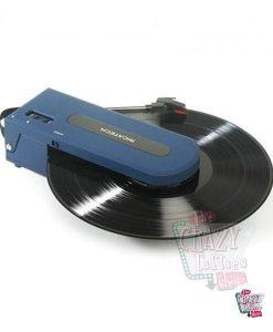 Tocadiscos portátil Revolution azul