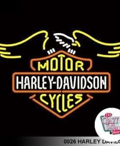 Retro Neon Harley Davidson L