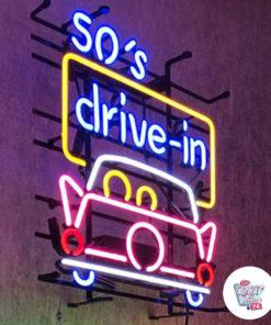 Neon 50s Kjør inn på plakaten