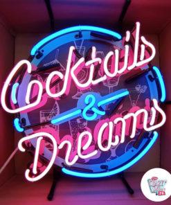 Neoncocktails og drømme-plakat