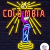 Neon Columbia på skiltet