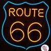 Neon Retro Routen 66