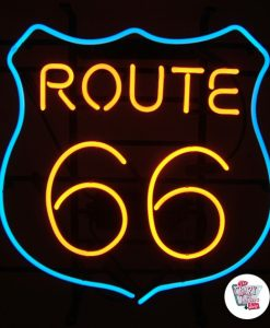 Retro Neon Sign Route 66