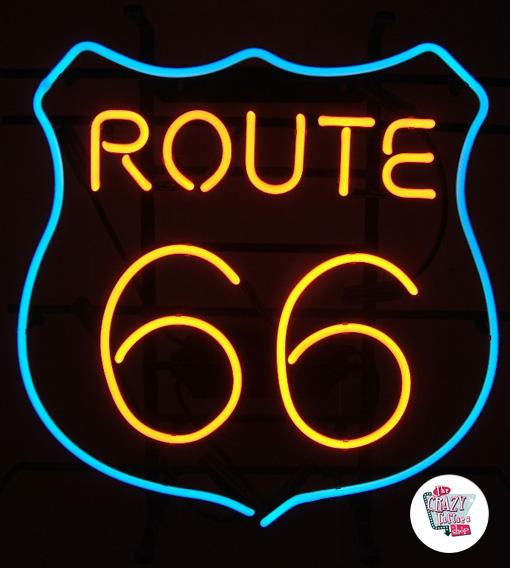 Retro Neon Route 66