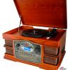 Vinyl 33 45-78-RPM. Diamant nål. CD-afspiller, USB, SD-kort, optagefunktion.