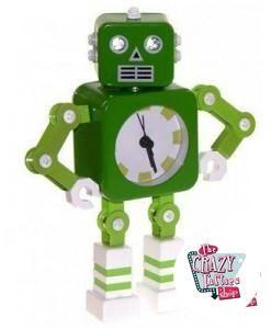 Reloj Despertador Retro Robot Verde