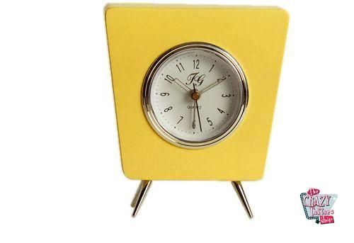 Amarelo retro Relógio louco
