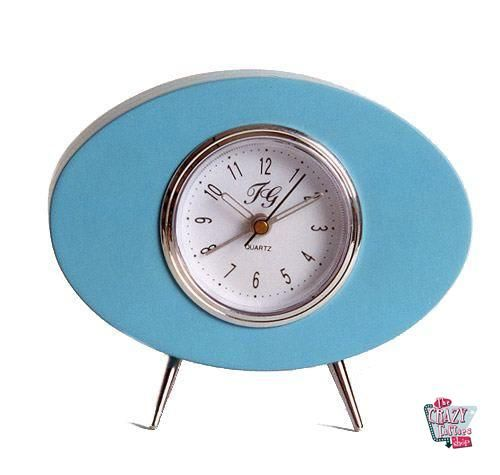 Retro Blå Crazy Clock