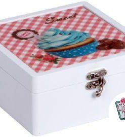Caja Madera Retro Cupcake 2