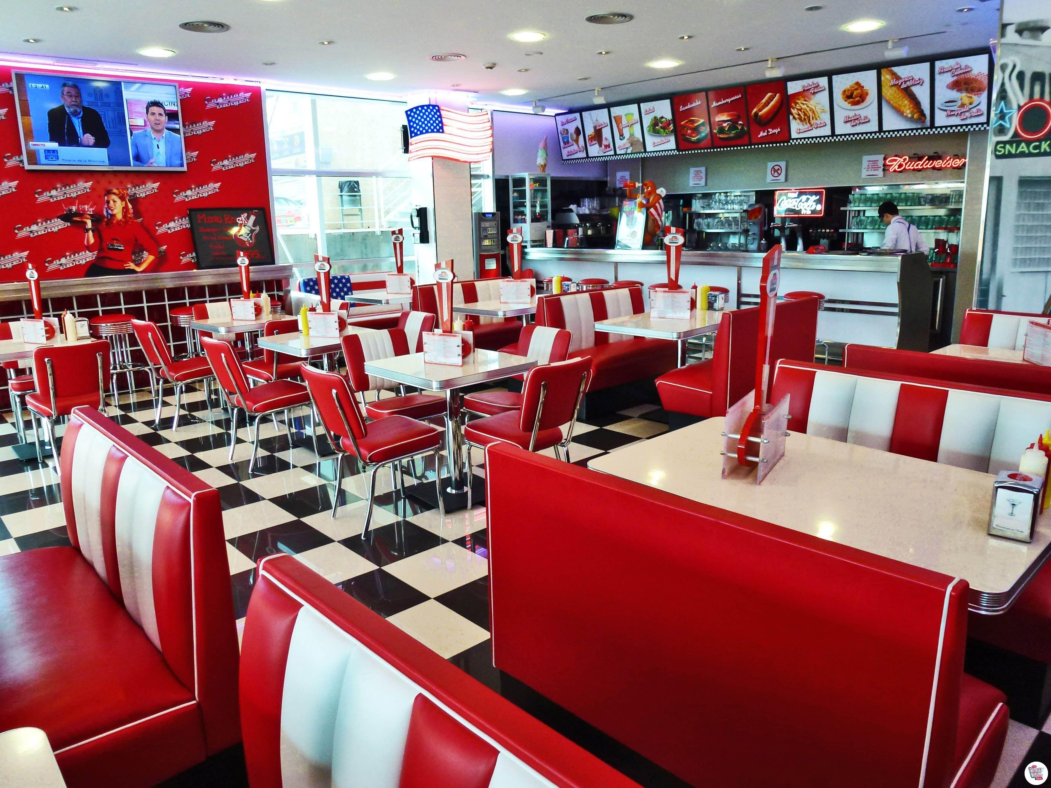 Cadillac Burger retro american booths HW120