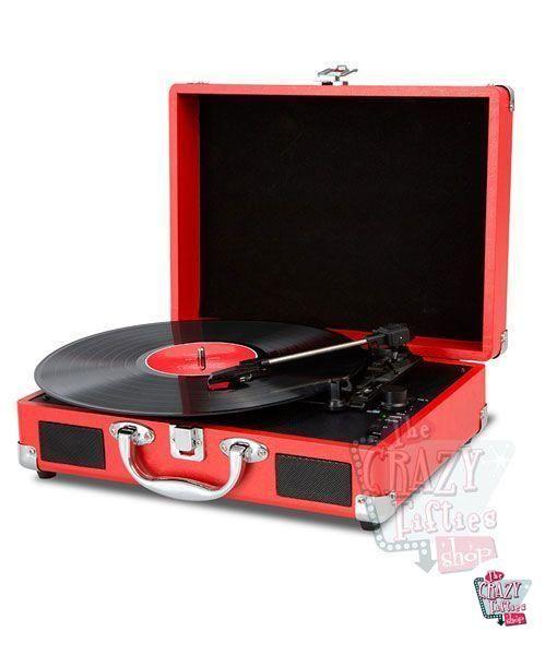 toca-discos retro vermelho Cruiser