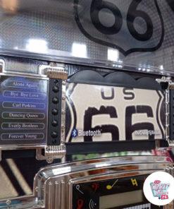 Jukebox Neon Bluetooth Route 66 Vintage détail