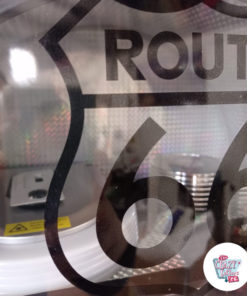 Disque laser vintage Jukebox Neon Bluetooth Route 66