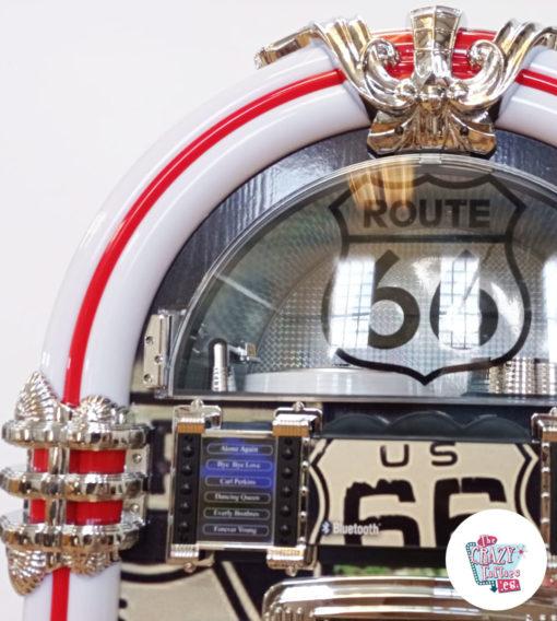 Écran Vintage Jukebox Neon Bluetooth Route 66