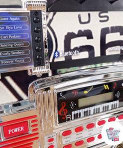Jukebox Néon Bluetooth Route 66 Vintage US