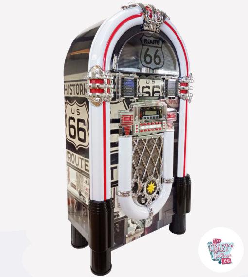 Jukebox Neon Bluetooth Route 66 Vintage droite