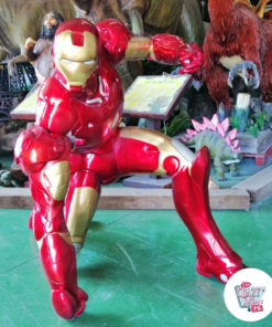 Figure decoration Super Hero IronMan kneeling