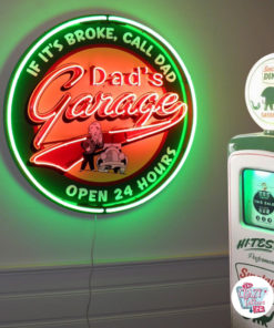 Neon Dad's Garage XL Plakat