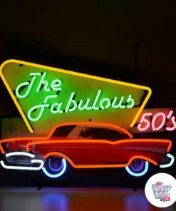Neon Fabulous Fifties auf Poster