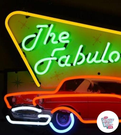 Neon Fabulous Fifties detaljerplakat