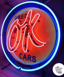 Neon OK Brugte biler på venstre plakat