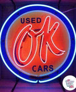 Neon OK Brugte biler på skilt