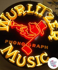 Neon Wurlitzer Musikkplakat tent