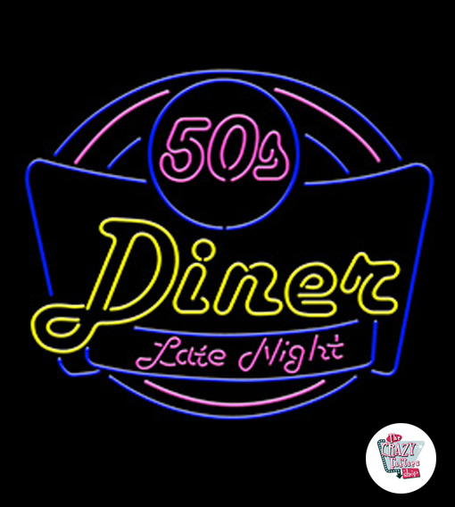 Neon Retro 50s Diner Late Night