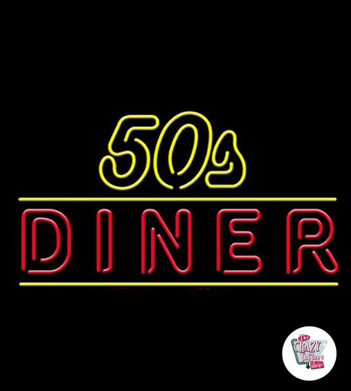Neon 50s Diner-plakat