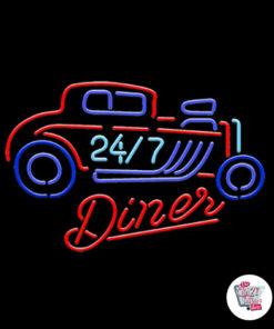 Neon Diner-plakat 24-7