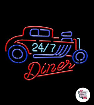 Néon Retro Diner 24-7