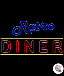 Affiche néon rétro Diner