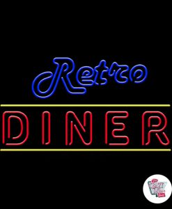 Retro Neon Lights Diner