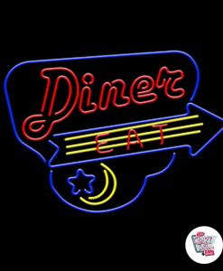 Retro Neon Singn Diner Eat