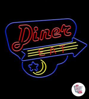 Néon Retro Diner Comer