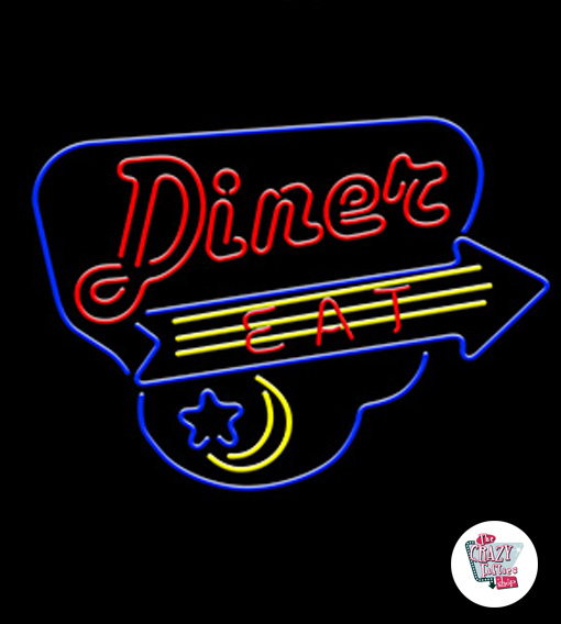 Neon Diner Eat-plakat