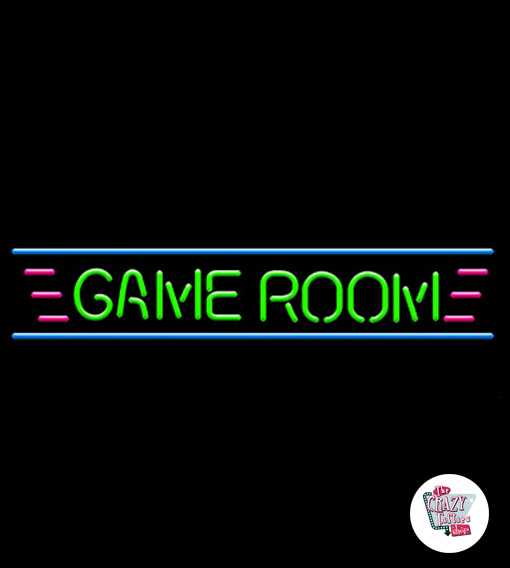 Neon retro Game Room