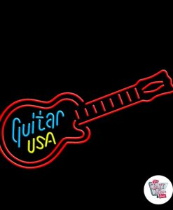 Neon Retro Guitar USA