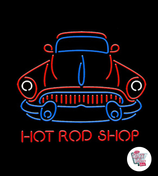 Neon Retro Hot Road Shop