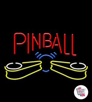 Pinball retrô de néon