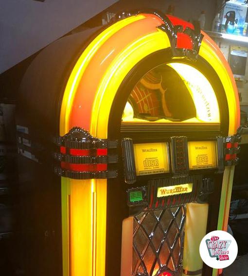 Jukebox Wurlitzer OMT sin restaurar funcionando