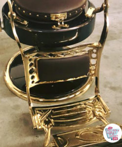 Barberstol Retro Classic Lux Gold polstret