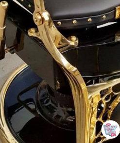 Gold Finish Friseurstuhl Vintage Gold