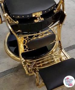 Gold Finish Fußstütze Gold Vintage Barber Chair